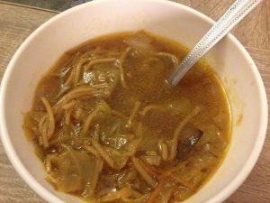 Soupe de choux façon asiatique